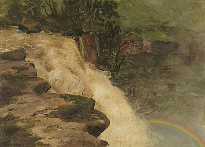 A Waterfall In Colombia Poster by Frederic Edwin Church