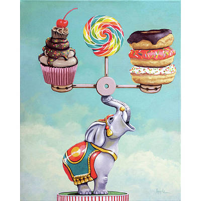 Poster featuring the painting A Well-balanced Diet by Linda Apple