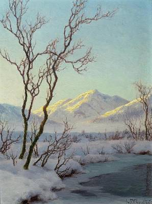 A Winter Morning In The Engadin Poster by MotionAge Designs