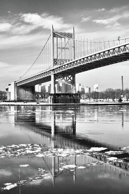 A Winter Portrait Of The Triboro Bridge Poster