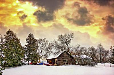 A Winter Sky - Paint Poster by Steve Harrington