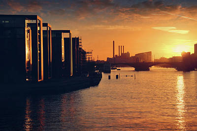 A Winter Sunset From Knippelsbro Bridge In Copenhagen  Poster by Carol Japp