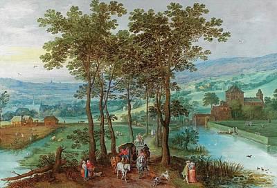 A Wooded Landscape Poster by Joos de Momper