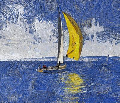 A Yellow Sail Poster