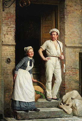 A Young Baker Cooling Down Poster by Carl Heinrich Bloch