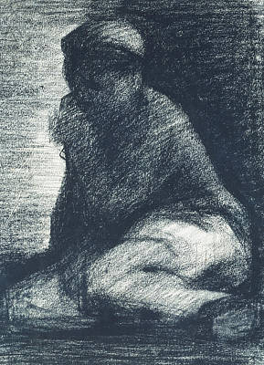 A Young Man Crouching Poster by Georges Pierre Seurat