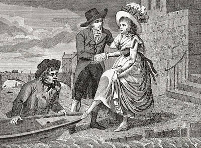 A Young Man Helps A Pretty Young Woman Poster