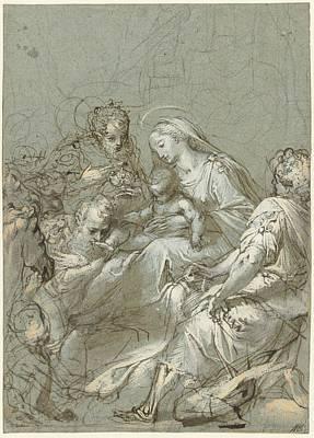 Aanbidding Der Koningen Poster by Federico Barocci