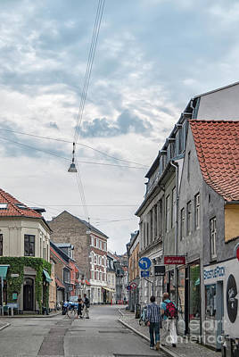 Poster featuring the photograph Aarhus Urban Scene by Antony McAulay
