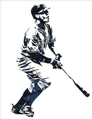 Aaron Judge New York Yankees Pixel Art 13 Poster