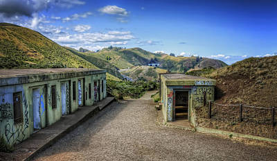 Abandoned Battery Spencer At Fort Baker - Marin Headlands California Poster by Jennifer Rondinelli Reilly - Fine Art Photography