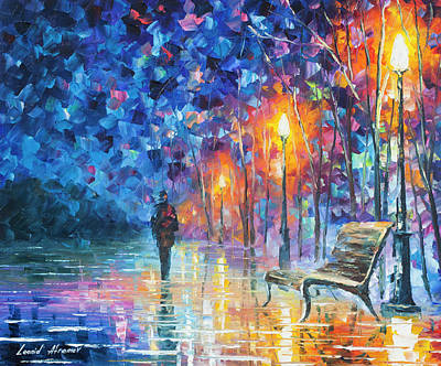 Abandoned By Winter Poster by Leonid Afremov