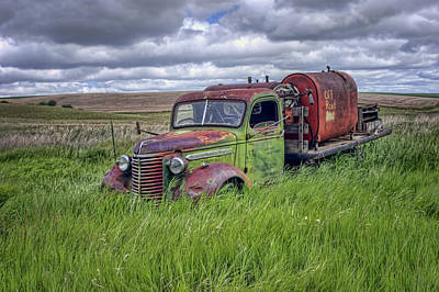 Abandoned Chevy Truck - Rusty Vehicles Poster