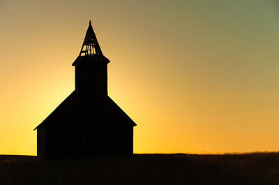 Abandoned Church Silhouette Poster by Todd Klassy