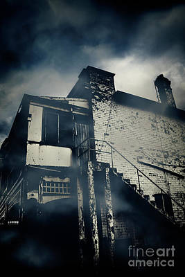 Abandoned Creepy House At Night Poster by Jorgo Photography - Wall Art Gallery