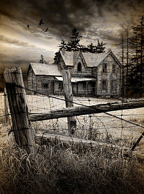 Abandoned Farm House Poster by Randall Nyhof