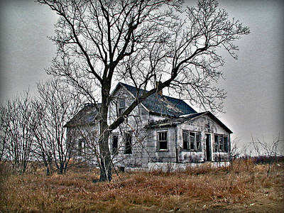 Abandoned Farmhouse Poster by Laurie With