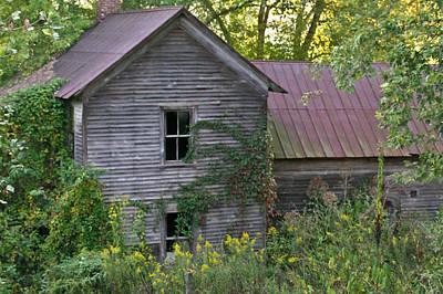 Abandoned Farmhouse On Stacy Fork Poster by Douglas Barnett