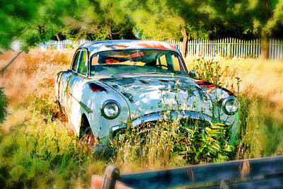 Poster featuring the digital art Abandoned Hotrod by Michael Cleere