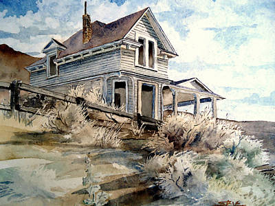 Poster featuring the painting Abandoned House by Steven Holder