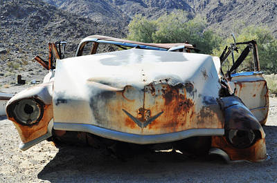 Poster featuring the photograph Abandoned Mojave Auto by Kyle Hanson