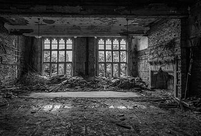 Abandoned Ornate Windows Poster