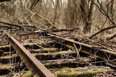 Poster featuring the photograph Abandoned Railroad 1 by Scott Hovind