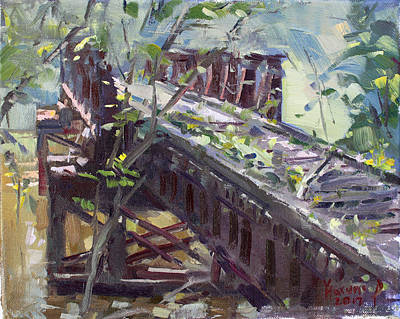Abandoned Railroad Bridge In Tonawanda Poster by Ylli Haruni