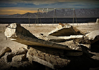 Poster featuring the photograph Abandoned Ruins On The Eastern Shore Of The Salton Sea by Randall Nyhof