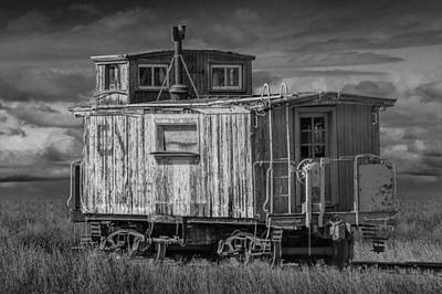 Abandoned Train Caboose Poster by Randall Nyhof