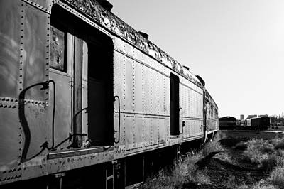 Abandoned Train Cars Poster