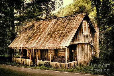 Poster featuring the photograph Abandoned Vintage House In The Woods by Dan Carmichael