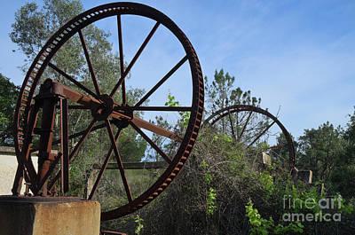 Abandoned Water Extraction Wheel Mechanism Poster