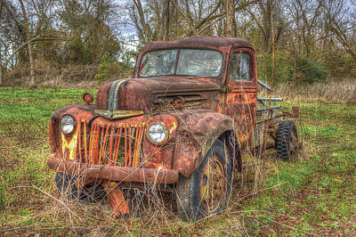 Abandonment 1947 Ford Stakebed Truck Art Poster by Reid Callaway
