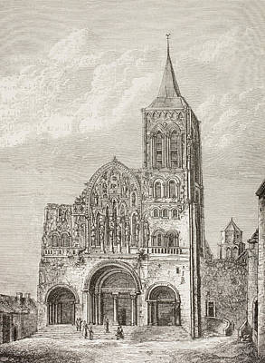 Abbey Church Of The Magdelene, Vezelay Poster