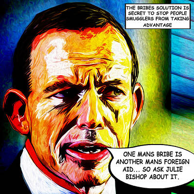 Abbott Bribes People Smugglers Poster