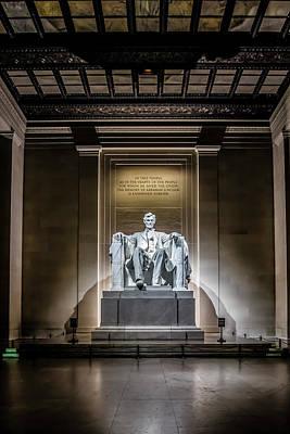 Abe Lincoln Under His Night Lights  Poster by Sven Brogren