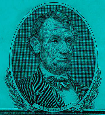 Poster featuring the photograph Abe On The 5 Aqua Blue by Rob Hans