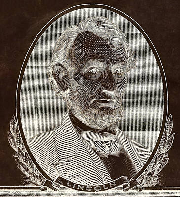 Poster featuring the photograph Abe On The 5 B W Inverted Brown by Rob Hans