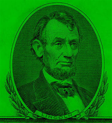 Poster featuring the photograph Abe On The 5 Green by Rob Hans