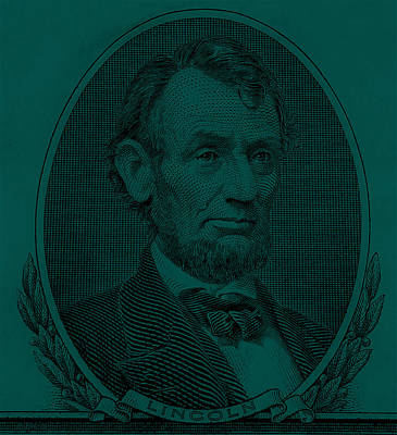 Poster featuring the photograph Abe On The 5 Greenishblue by Rob Hans