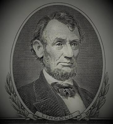 Poster featuring the photograph Abe On The 5 Grey by Rob Hans