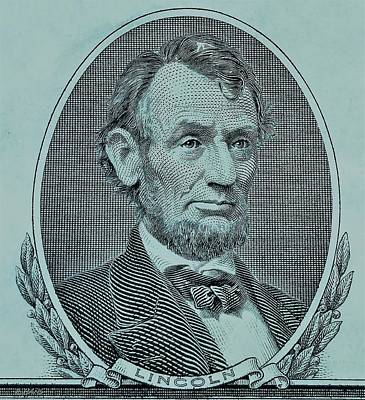 Poster featuring the photograph Abe On The 5 Lite Blue by Rob Hans
