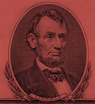 Poster featuring the photograph Abe On The 5 Peach by Rob Hans