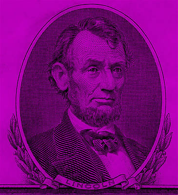 Poster featuring the photograph Abe On The 5 Purple by Rob Hans