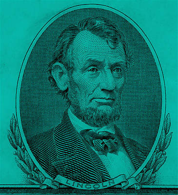 Poster featuring the photograph Abe On The 5 Turquoise by Rob Hans