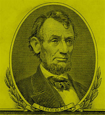 Poster featuring the photograph Abe On The 5 Yellow by Rob Hans