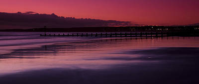 Poster featuring the photograph Aberdeen Beach After Sunset by Gabor Pozsgai