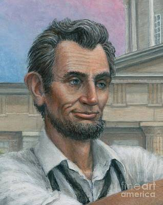 Poster featuring the painting Abe's 1st Selfie - Detail by Jane Bucci
