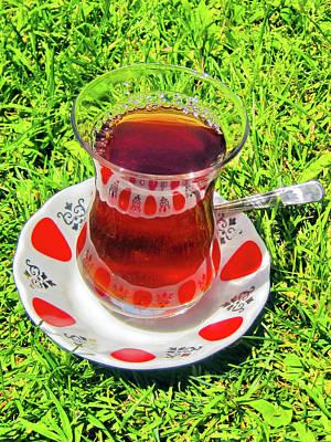 about LOVE. Turkish tea. Poster